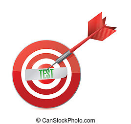 target test illustration design
