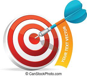 target., text, dart., dartboard, schlagen, banner