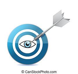 target the eye illustration design