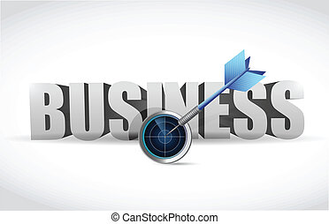 target the right business. radar and dart target...