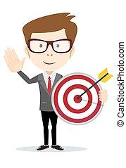 target., uomo affari