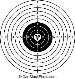 target - three shots on target sport