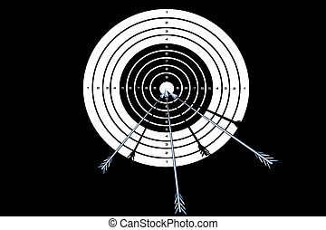 target - Vector illustration of target with the arrows at a...