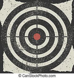 Target. Vector grunge illustration. Eps8