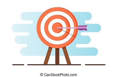 Illustration of a target with an arrow.