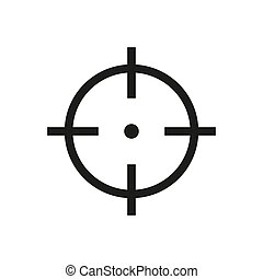 Target vector icon, sniper symbol. Modern, simple flat vector illustration for web site or mobile app