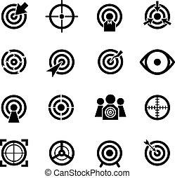 Target vector icons set