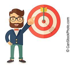 target., vendedor, golpe, ventas
