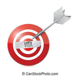 target visa sign illustration design