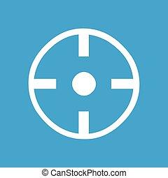 Target white icon