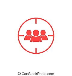 Target witadvertising, aim, audience, avatar, background, business, buyer, center, central, centric, circle, client, communication, concept, consumer, customer, design, find, focus, goal, group, head, human, icon, illustration, isolated, market, marketing, optimization, outline, people, person, research, resources, scope, search, selection, seo, sign, strategy, success, symbol, target, targeted, targeting, team, user, vector, web, whiteh audience icon.