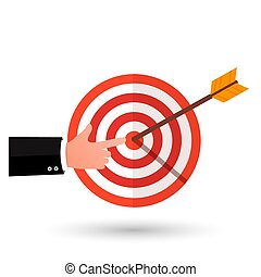 Target with an arrow flat icon