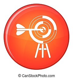 Target with an arrow icon, flat style
