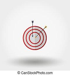 Target with an arrow.