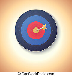 Target with arrow hitting in center