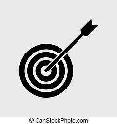 Target with arrow. Icon