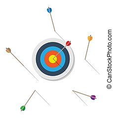 Target with arrow in center.