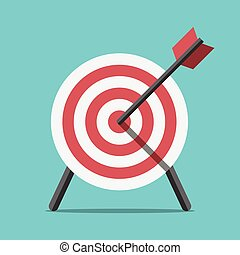 Target with arrow standing