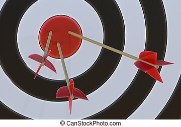 Target with arrows. 3D rendered illustration.