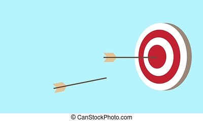 target with arrows animation