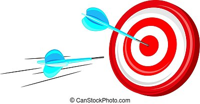 Target with arrows. Vector ilustration