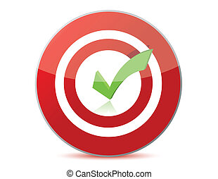 target with checkmark illustration design