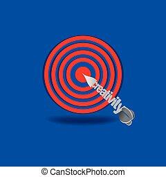 target with creativity aim