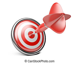 Target with darts. Concept image for achieving business...