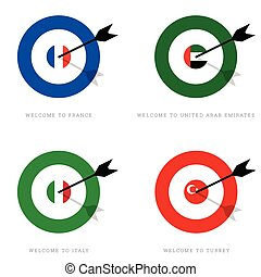 target with flags set illustration