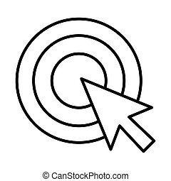 target with mouse cursor arrow line style icon