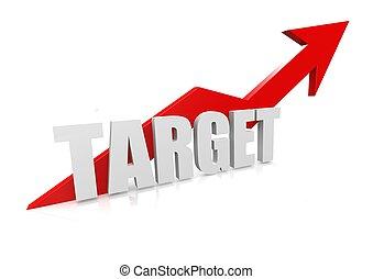 Target with upward red arrow