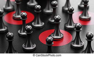 Targeted communication. Target individuals.