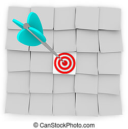 Targeted Marketing - Sticky Notes and Arrow - An arrow...