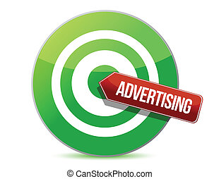 targeting advertising illustration design over a white ...
