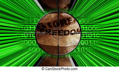 Targeting Censorship Freedom Of Speech Concept
