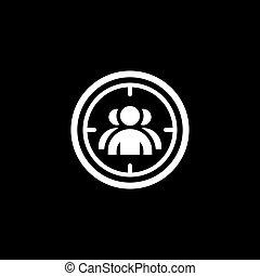 Targeting Icon. Flat Design.