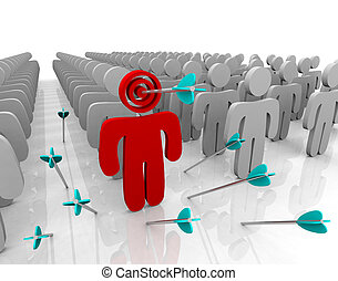 Targeting Your Customer - Arrows - Targeting a single...