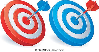 targets., さっと動く