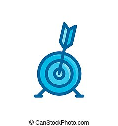 targets bulls eye icon, business concept vector illustration isolated on white background
