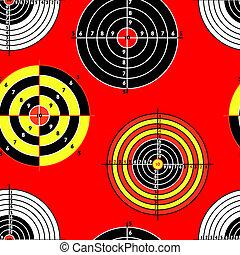 targets for practical pistol shooting, seamless wallpaper, vector illustration