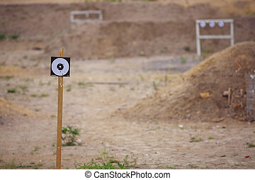 Targets on shooting range - Targets on outdoor shooting...