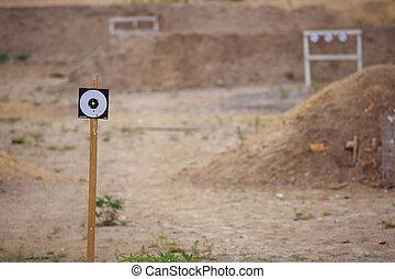 Targets on shooting range - Targets on outdoor shooting...