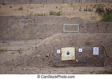 Targets on shooting range - Targets on outdoor shooting ...