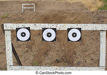Targets on shooting range