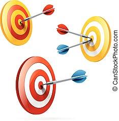 Targets set isolated on white