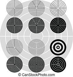 targets., stampini, variante, primo