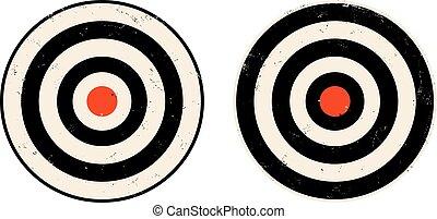 targets., vecteur, ensemble, icônes
