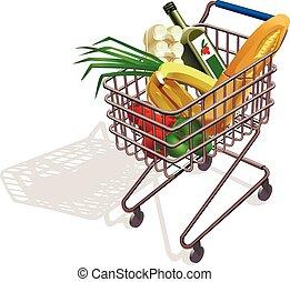 targonca, élelmiszer áruház