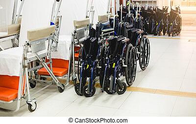 targonca, kórház, tolószék