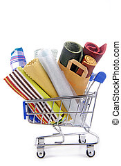 targonca, különféle, kellék, bevásárlás, szerkezet